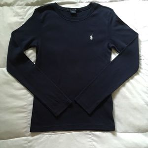Ralph Lauren Sport Navy Long Sleeve Shirt Medium